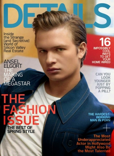 Ansel Elgort Details Magazine Cover